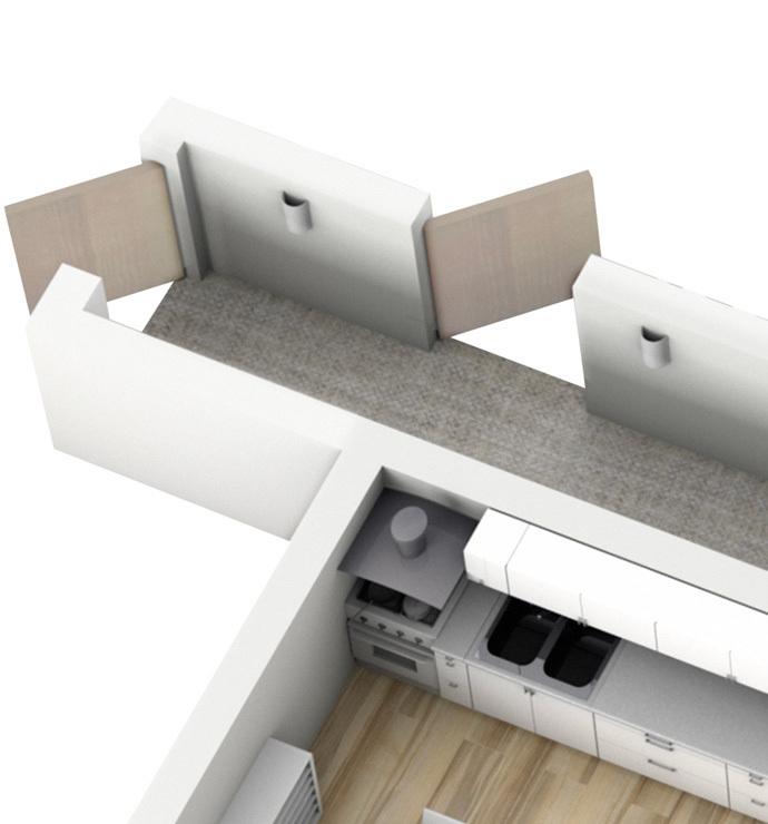 Parties communes : couloirs et paliers d'étage